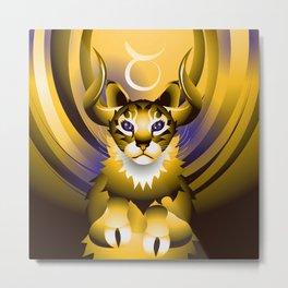 TAURUS ZodiaCats Metal Print
