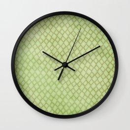 Green Snake Print Wall Clock