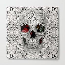 Lace Skull 2 Metal Print