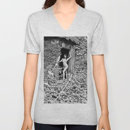 Nude Art Photogrphy by Mary Bassett Unisex V-Neck
