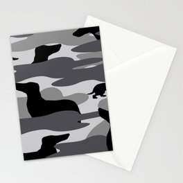 Grey Camo Weiner Dogg Stationery Cards