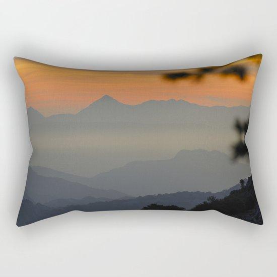 """""""Sunset at the mountains II"""" Rectangular Pillow"""