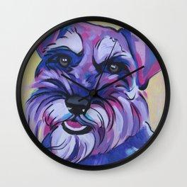 Schnauzer Pop Art Pet Portrait Wall Clock