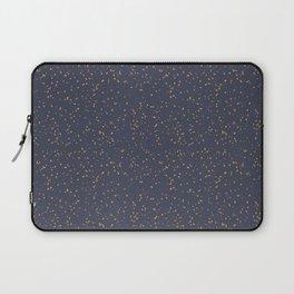 Speckles I: Dark Gold on Blue Vortex Laptop Sleeve