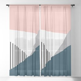 Colorful geometry 2 Sheer Curtain