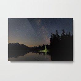 Milky Way in the Trees Metal Print