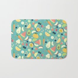 Eat your fruit and vegetables Bath Mat