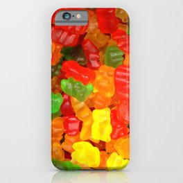 red orange yellow colorful gummy bear iPhone Case