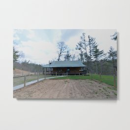barn and garden Metal Print