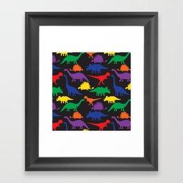 Dinosaurs - Black Framed Art Print