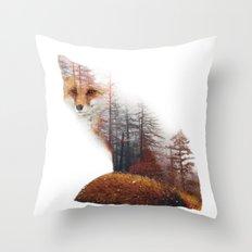 Misty Fox Throw Pillow