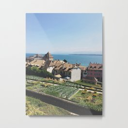 View from Le Château de Nyon Metal Print