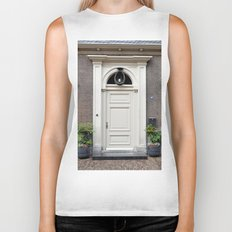White church door Biker Tank