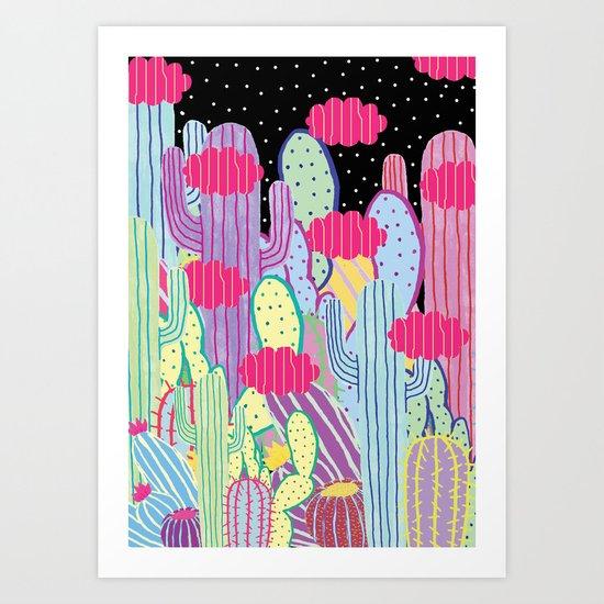 Cactus Party Art Print