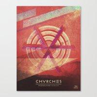 chvrches Canvas Prints featuring Chvrches by Derek Brown