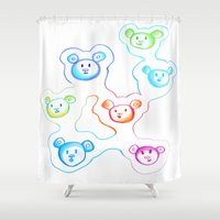 bears Shower Curtains featuring Bears by Angelz