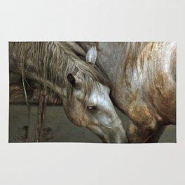 Fighting lipizzan horses Rug