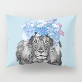 Lion with flowers Pillow Sham