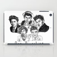 one direction iPad Cases featuring One Direction by Hollie B