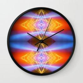 Blue Wave Fire Wall Clock