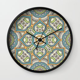 Native Indian mandala Wall Clock