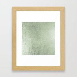Modern elegant stylish blush green abstract pattern Framed Art Print
