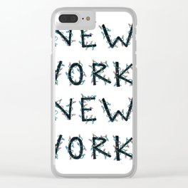 New York, New York Holiday Lights Clear iPhone Case