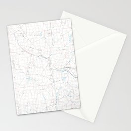 NV Bull Run Mts 321475 1982 topographic map Stationery Cards