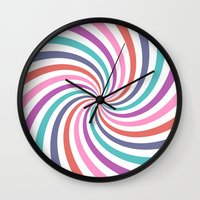 carnival Wall Clocks featuring Carnival by The Nostalgic Whim