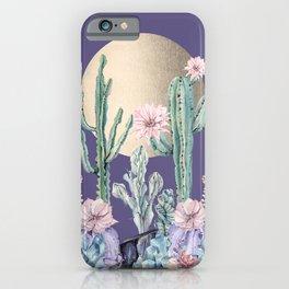 Desert Sun + Gemstones Gold Deep Purple iPhone Case