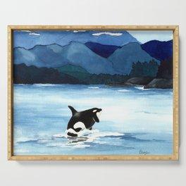 Orca Breach Serving Tray