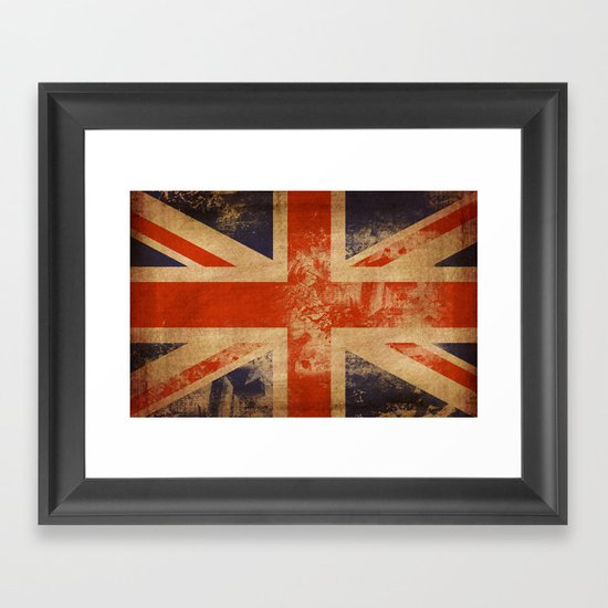 United Kingdom Flag Framed Art Print