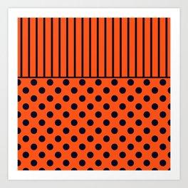 Orange, combo pattern Art Print