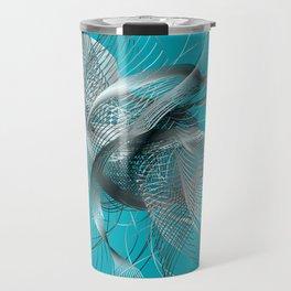 Abstract Fish Travel Mug