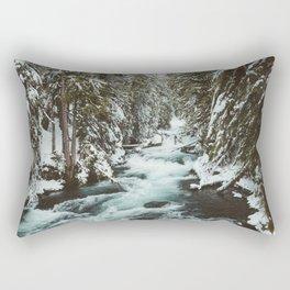 The Wild McKenzie River Portrait - Nature Photography Rectangular Pillow