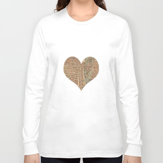 heart map 4 Long Sleeve T-shirt