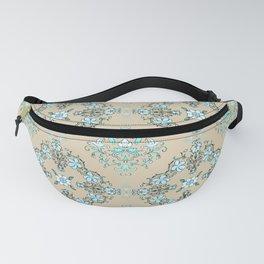 Vintage Floral - Light Blue Fanny Pack