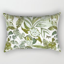 Wild botany in the jungle Rectangular Pillow
