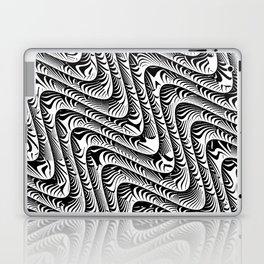 Black and White Serpentine Pattern Laptop & iPad Skin