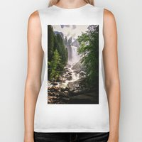 yosemite Biker Tanks featuring Yosemite Waterfall by Loaded Light Photography