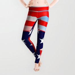 Patriotic American Symbols Leggings