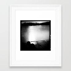 dark sea. Framed Art Print