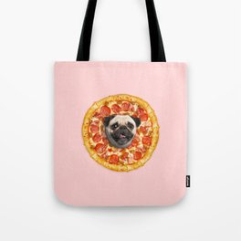 Pug Lover Pizza Tote Bag