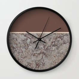 Brown Meets Brown Gray Concrete #1 #decor #art #society6 Wall Clock
