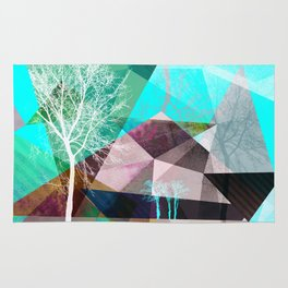 P16 TREES AND TRIANGLES Rug