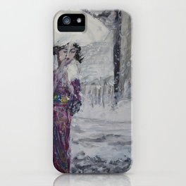Geisha In The Snow iPhone Case