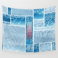 salt water Wall Tapestries featuring Water Color and Salt Mosaic  by Marwood Designs