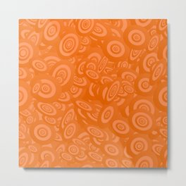 Orange Ellipses Artwork Metal Print