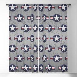 U.S. Military Aviation Star National Roundel Insignia Blackout Curtain
