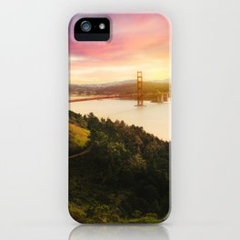 Golden Gate Bridge | San Francisco California Landscape Sunset Travel Photography iPhone Case
